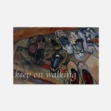 Keep on Walking Rectangle Magnet