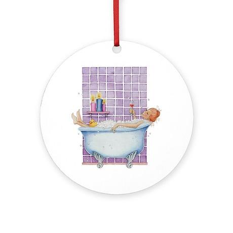 Bathtub Joy Ornament (Round)