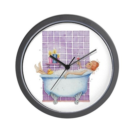 bathtub joy wall clock by floatinglemons