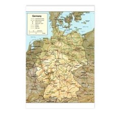 Germany Map Postcards (Package of 8)