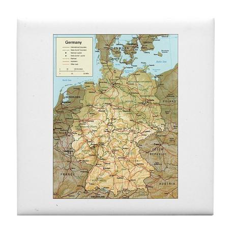 Germany Map Tile Coaster