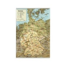 Germany Map Rectangle Magnet