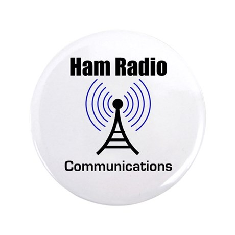 "Ham Radio Communications 3.5"" Button"