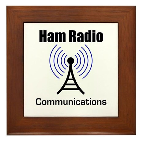 Ham Radio Communications Framed Tile