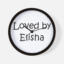 Cute Elisha Wall Clock