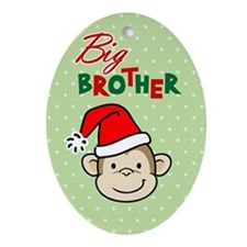 Christmas little brother Oval Ornament