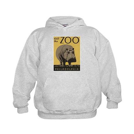 Zoo Hippo Kids Hoodie