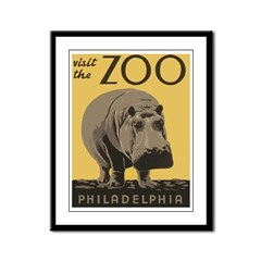 Zoo Hippo Framed Panel Print