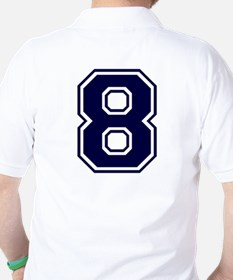 NUMBER 8 BACK Golf Shirt