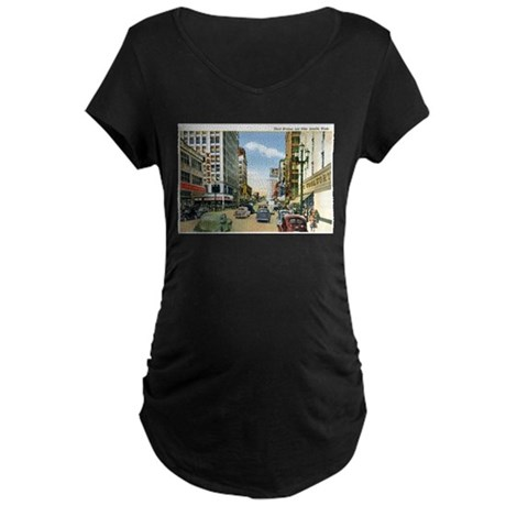 Seattle Washington WA Maternity Dark T-Shirt