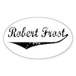 Robert Frost Oval Sticker