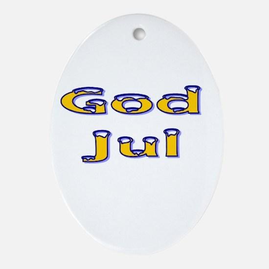 Svenska God Jul Oval Ornament