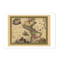 America Americas Map Postcards (Package of 8)
