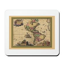 America Americas Map Mousepad
