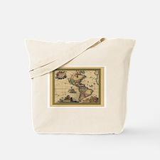 America Americas Map Tote Bag