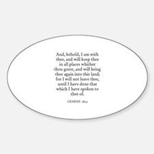 GENESIS 28:15 Oval Decal