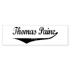 Thomas Paine Bumper Bumper Sticker