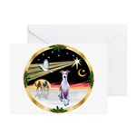 Wisemen/Whippet #8 Greeting Cards (Pk of 20)