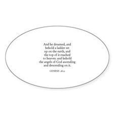 GENESIS 28:12 Oval Decal
