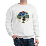 XmasMusic r (blk) #13/Cocker Sweatshirt