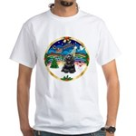 XmasMusic r (blk) #13/Cocker White T-Shirt