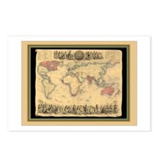 1850 British Empire Map Postcards (Package of 8)