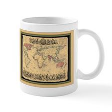 1850 British Empire Map Mug