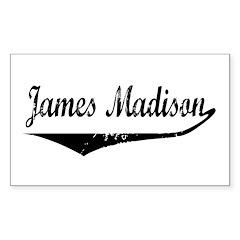 James Madison Rectangle Decal