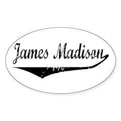 James Madison Oval Decal