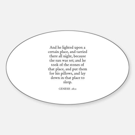 GENESIS 28:11 Oval Decal