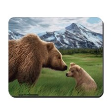 Grizzly Bear Mother & Cub Mouse pad