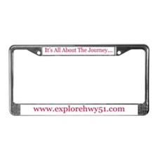 HWY 51 Journey License Frame