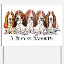 Basset Hound Bevy Yard Sign