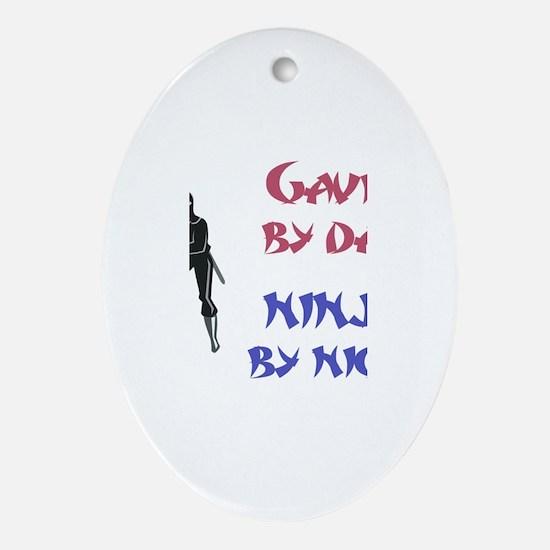 Gavin - Ninja by Night Oval Ornament