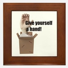 Give Yourself A Hand Framed Tile