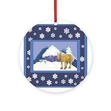 Snowflake Belgian Ornament (Round)