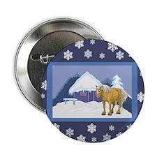 "Snowflake Belgian 2.25"" Button (10 pack)"