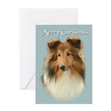 Blue Merle Sheltie Xmas Card