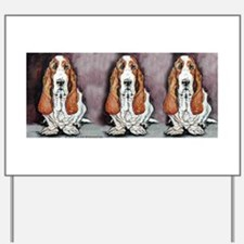 Basset Trio Yard Sign