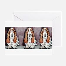 Basset Trio Greeting Card