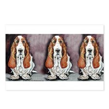 Basset Trio Postcards (Package of 8)