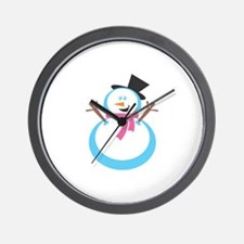Christmas Snowman Gift Shop Wall Clock