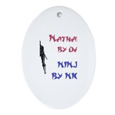 Nathaniel - Ninja by Night Oval Ornament