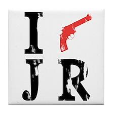 I Shot J.R. Tile Coaster