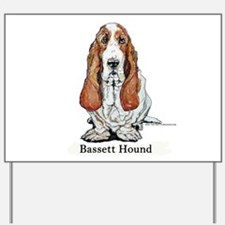 Bassett Hound Yard Sign