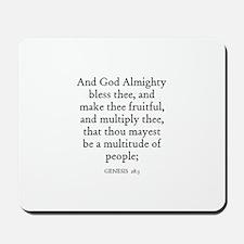 GENESIS  28:3 Mousepad