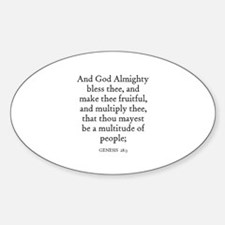 GENESIS 28:3 Oval Decal