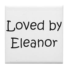 Cute Name eleanor Tile Coaster