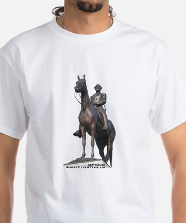 Robert E. Lee at Gettysburg White T-Shirt