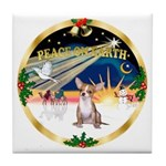 XmasSunrise/Chihuahua #1 Tile Coaster